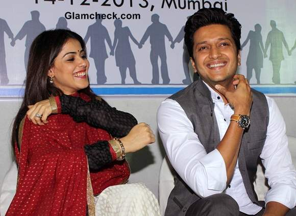 Genelia DSouza and Riteish Deshmukh at NSUI Launch