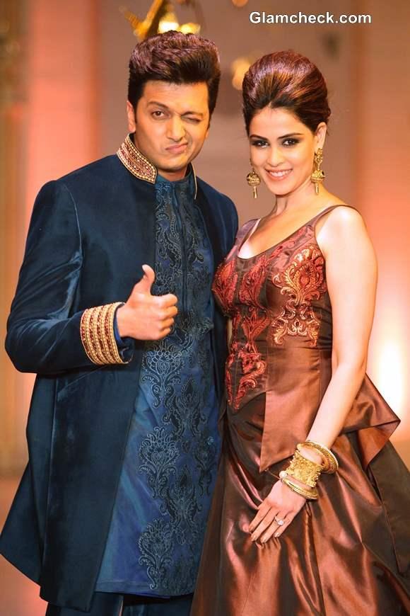 Genelia and Riteish IBFW 2013 Mumbai