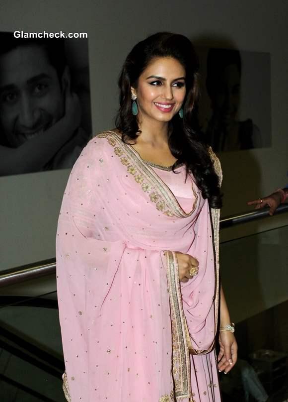 Huma Quresh in Pink Anarkali