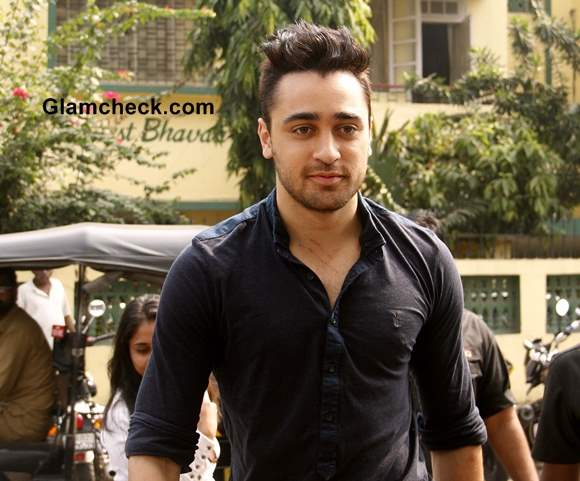 Imran Khan Shows off New Haircut at Bru Contest Event