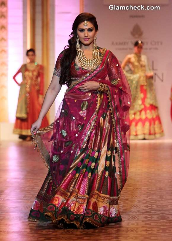 India Bridal Fashion Week 2013 Mumbai Huma Qureshi for Ashima Leena