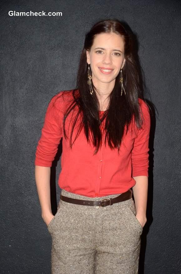 Kalki Kochelin In Tweed Pants Sporting A Girl-Next-Door Look-2578