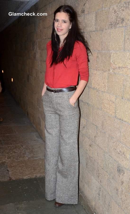 Kalki Kochelin In Tweed Pants Sporting A Girl-Next-Door Look-8476
