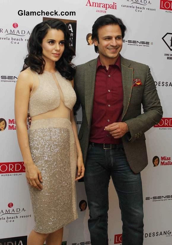 Kangana Ranaut Vivek Oberoi at Resort wear 2014 Fashion Calendar unveiling
