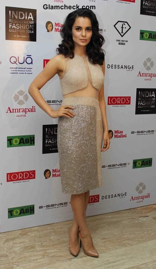 Kangana Ranaut at Resort wear 2014 Fashion Calendar unveiling