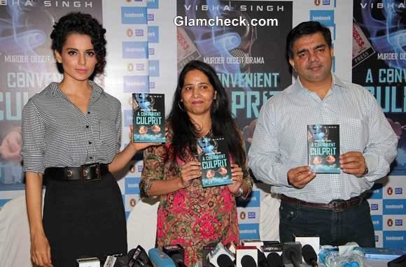 Kangana Ranaut at the launch of the book A Convenient Culprit