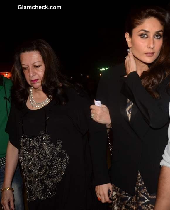 Kareena Kapoor with her mother and actor Babita