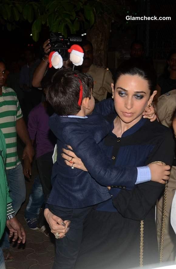 Karishma Kapoor with her son Kiaan Raj Kapoor