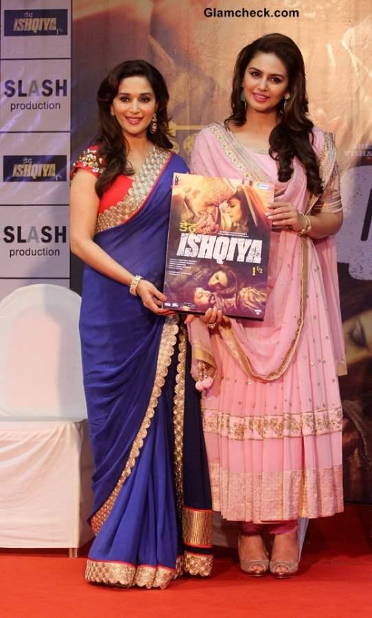 Madhuri Dixit and Huma Qureshi Launch Dedh Ishqiya Music
