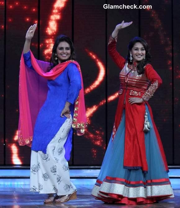 Madhuri Dixit and Huma Qureshi Promote Dedh Ishqiya on Dance India Dance