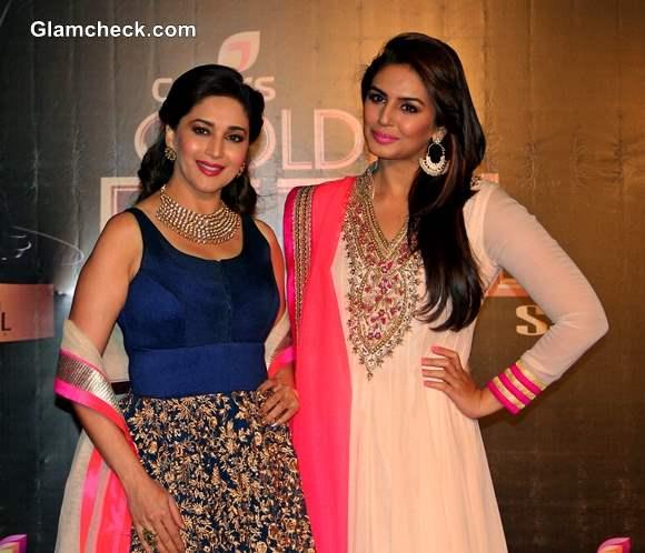 Madhuri Dixit and Huma Qureshi at Colors TV 3rd Golden Petal Awards