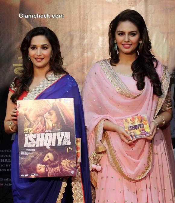 Madhuri Dixit and Huma Qureshi at the Launch of Dedh Ishqiya Music