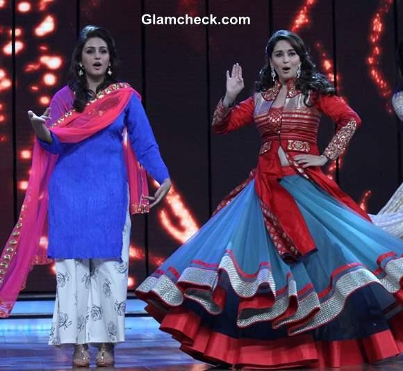 Madhuri Dixit and Huma Qureshi on Dance India Dance