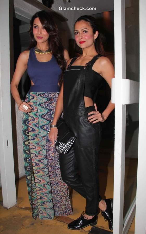 Malaika Arora Khan and Amrita Arora at The Closet Label Launch