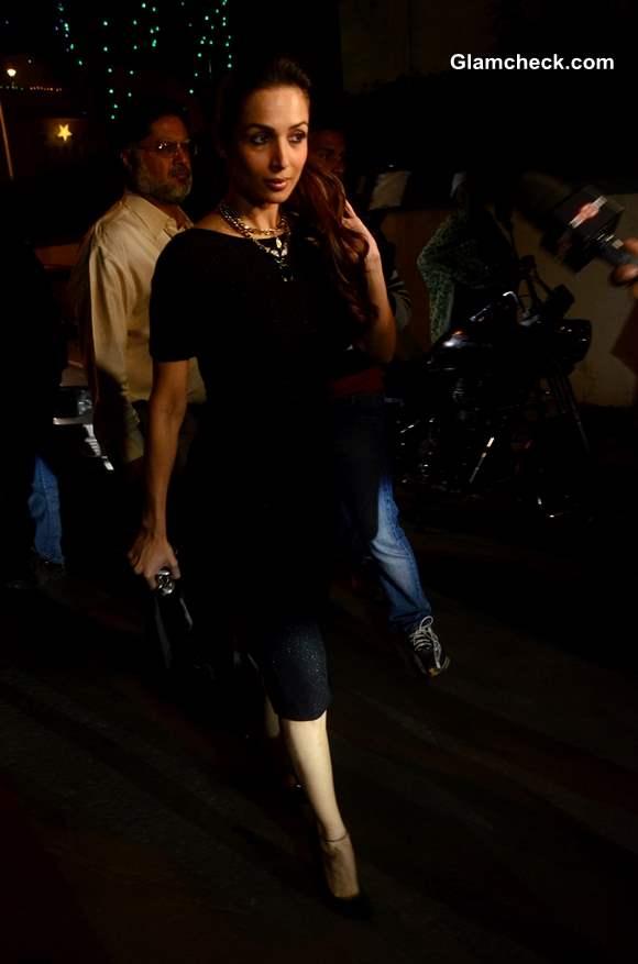 Malaika Arora Khan at the Midnight Mass on Christmas Eve 2013