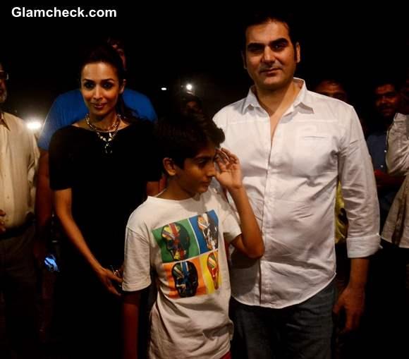 Malaika Arora Khan with her husband and filmmaker Arbaaz Khan and son Arhaan Khan