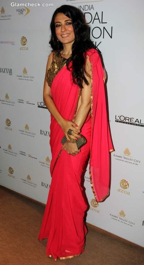 Mini Mathur at India Bridal Fashion Week 2013 Mumbai