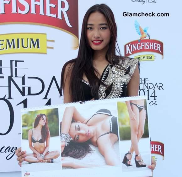 Model Ketho Leno Kense Kingfisher Calendar 2014 Launch