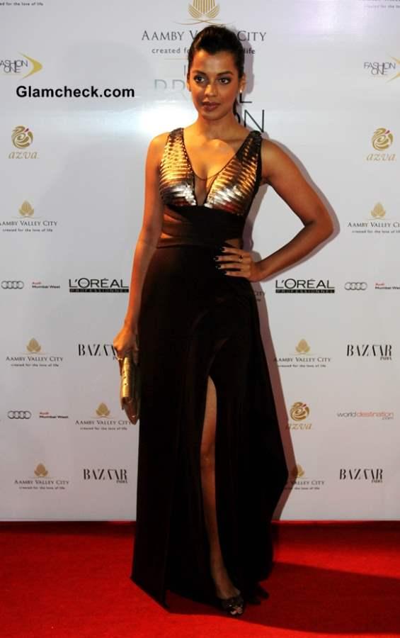 Mugdha Godse at Aamby Valley India Bridal Fashion Week 2013 Mumbai