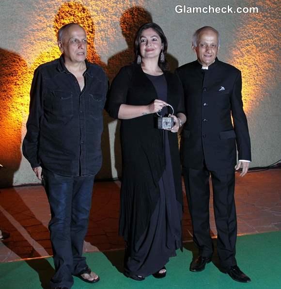 Mukesh Bhatt with Mahesh Bhatt and Pooja Bhatt
