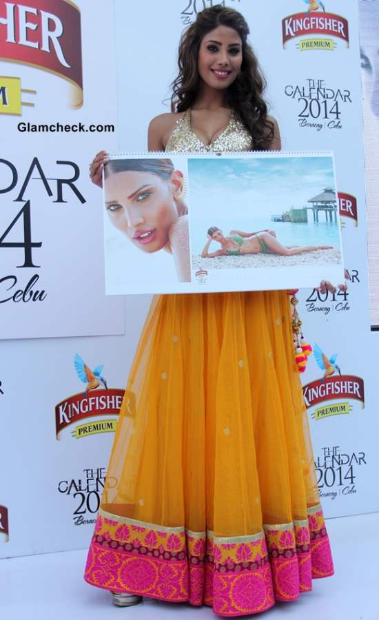 Nicole Faria at Launch of Kingfisher Calendar 2014