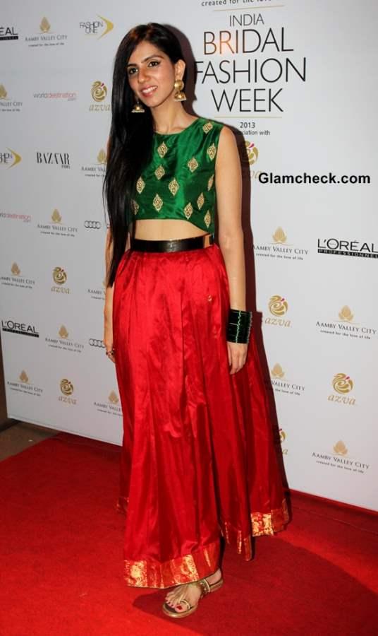 Nishka Lulla at India Bridal Fashion Week 2013 Day 6