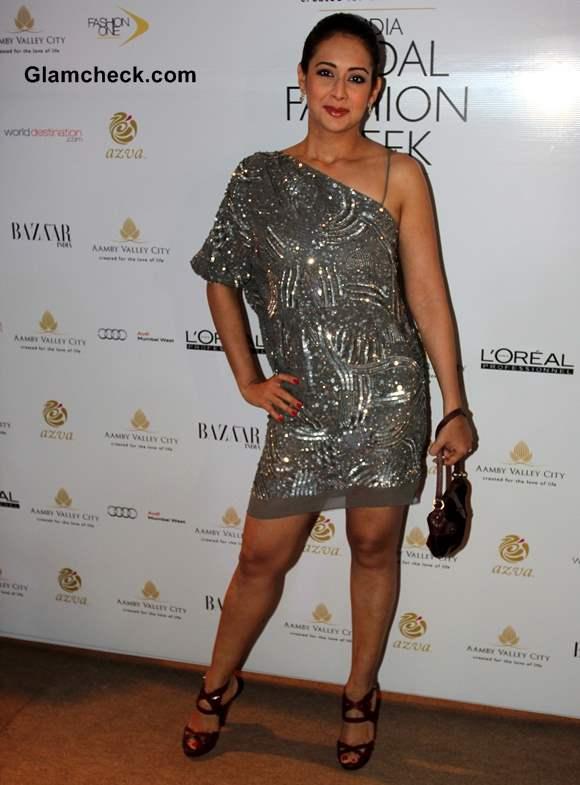 Preeti Jhangiani at India Bridal Fashion Week 2013 Mumbai