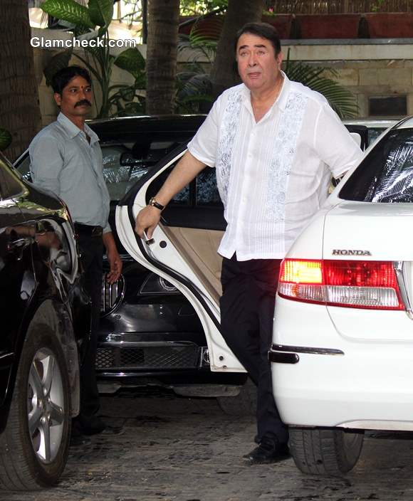 Randhir Kapoor at the Annual Christmas Lunch 2013