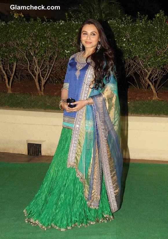 Rani Mukherjee 2013 at Vishesh Bhatt wedding reception