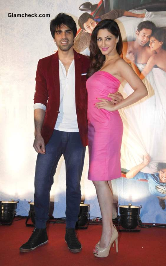 Reyhna Malhotra and Sahil Anand  at Babloo Happy Hai First Look Launch