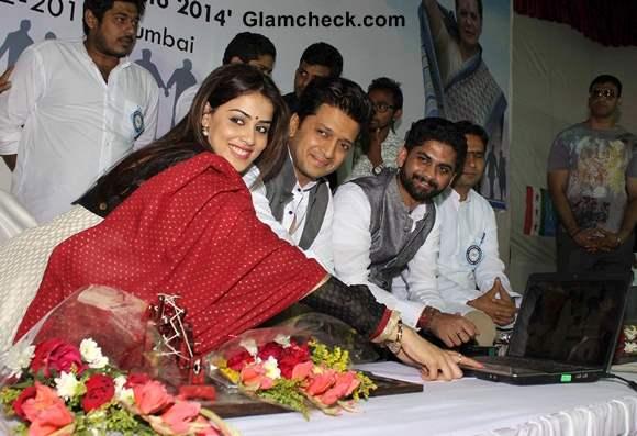 Riteish Deshmukh Genelia DSouza at NSUI Launch