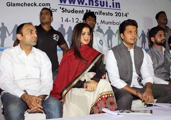 Riteish Deshmukh Genelia DSouza  for NSUI