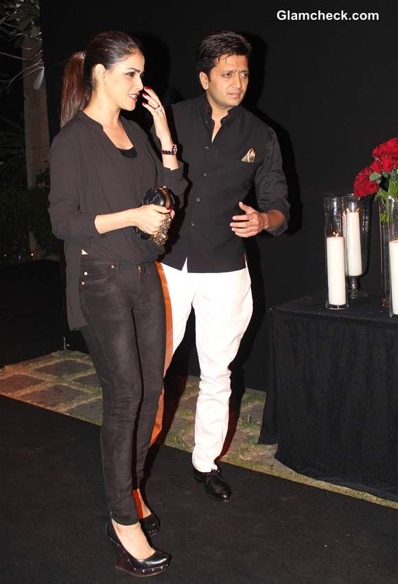 Riteish Deshmukh with his wife Genelia DSouza