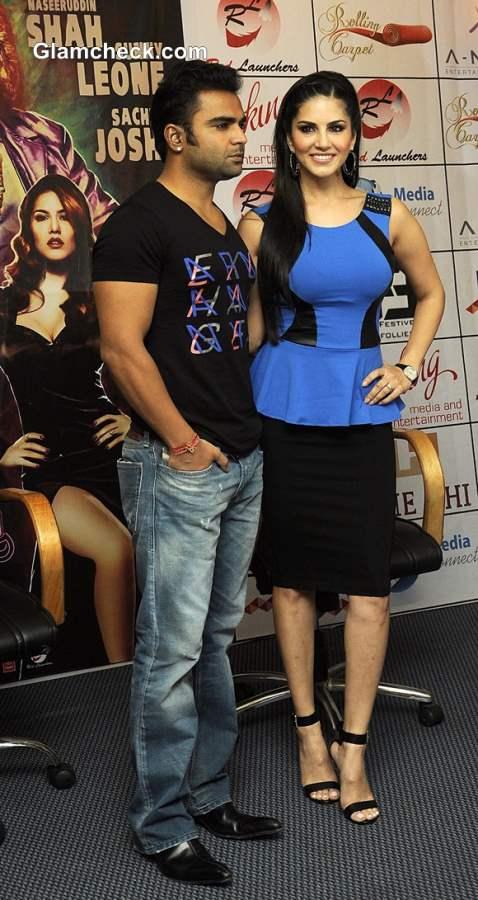 Sachin Joshi and Sunny Leone Jet to Kolkatta to Promote Jackpot
