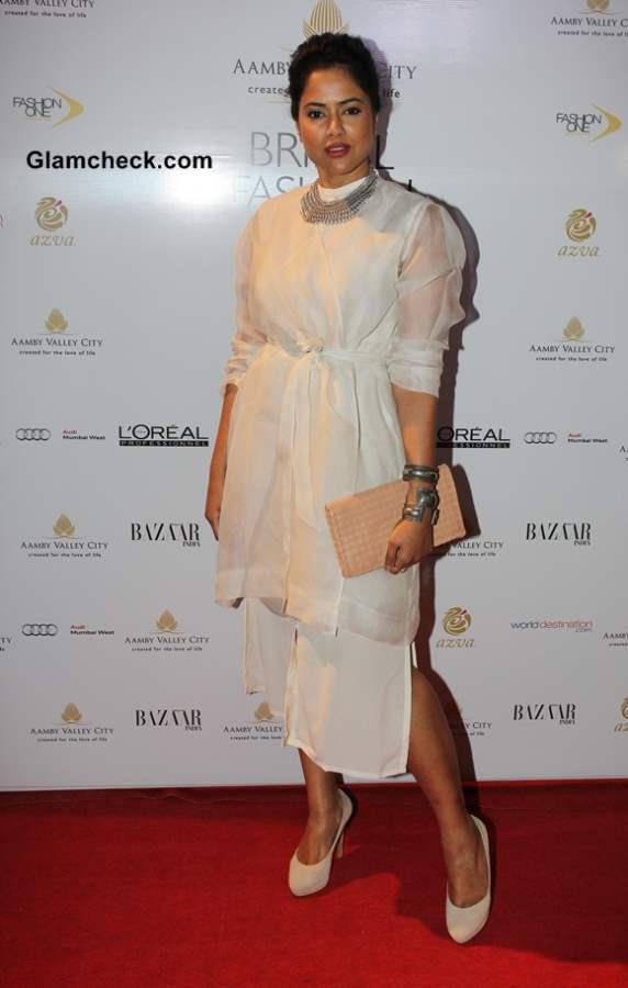 Sameera Reddy at India Bridal Fashion Week 2013 Day 6