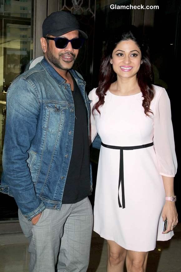 Shamita Shetty With Designer Rocky S