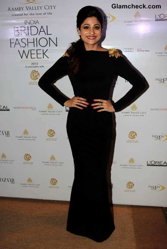 Shamita Shetty at India Bridal Fashion Week 2013 Mumbai