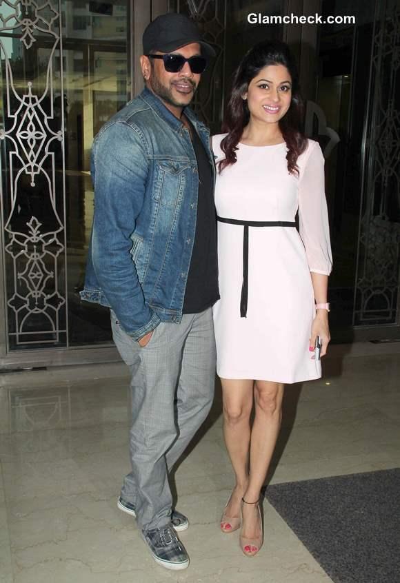 Shamita Shetty in White Tunic Dress