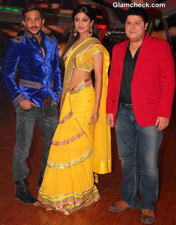 Shilpa Shetty Nach Baliye in Yellow Sari