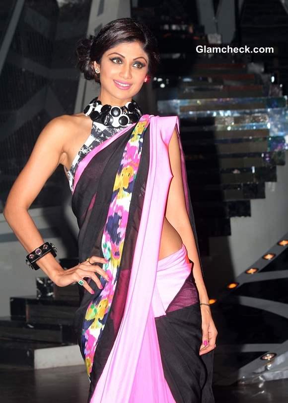 Shilpa Shetty in Sari Pictures on Nach Baliye 6