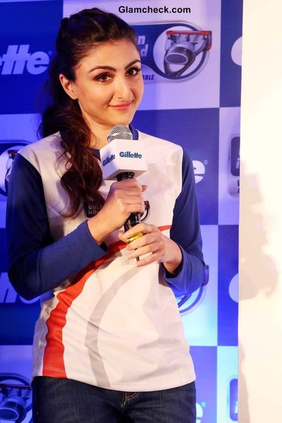 Soha Ali Khan 2013 for Gillettes Unshaven is Unbathed Campaign