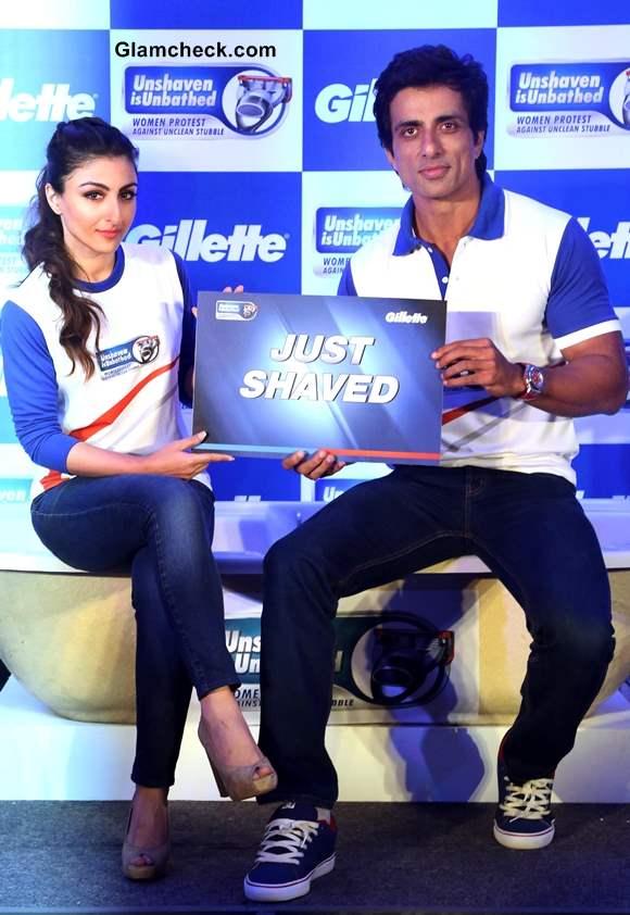 Soha Ali Khan and Sonu Sood Promote Gillettes Unshaven is Unbathed Campaign
