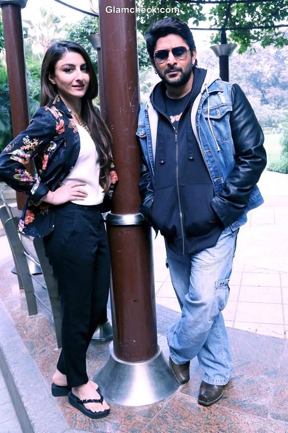 Soha and Arshad in Delhi for Joe B Carvalho Promo