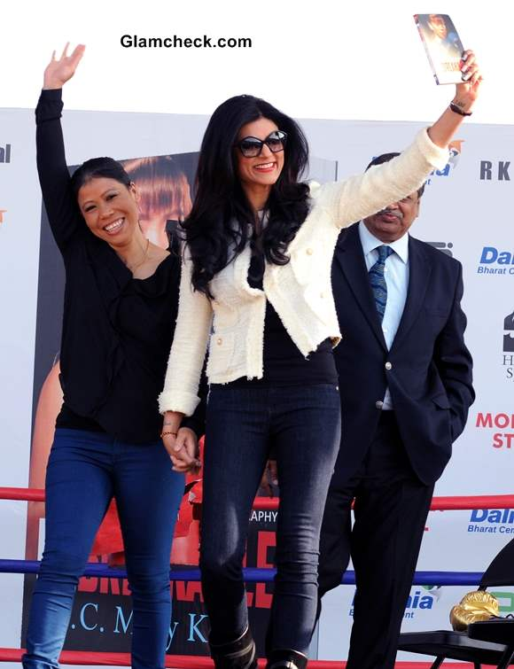 Sushmita Sen at the launch of Mary Koms autobiography Unbreakable