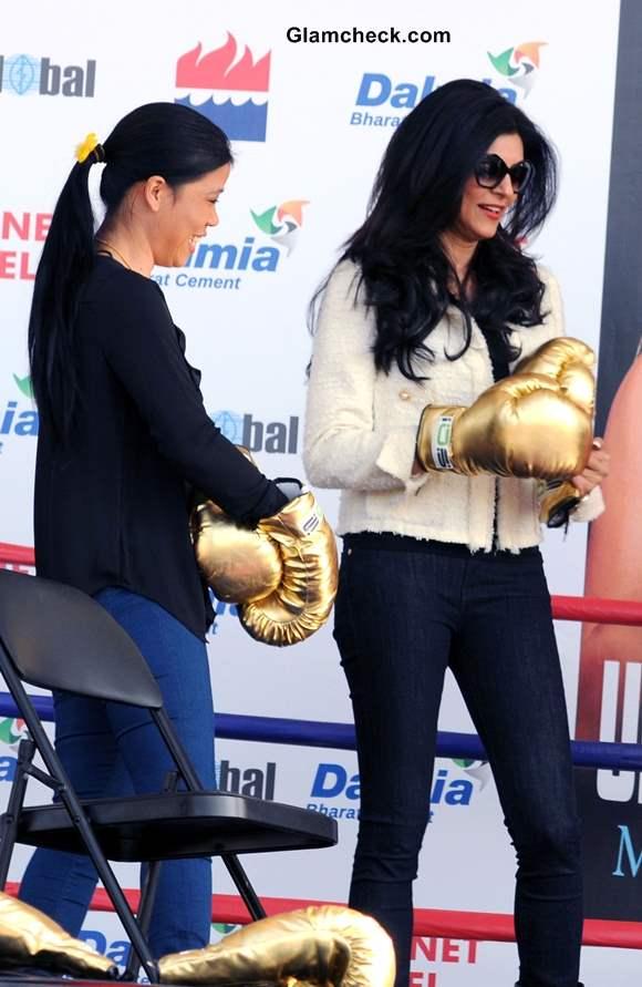 Sushmita Sen with M C Mary Kom