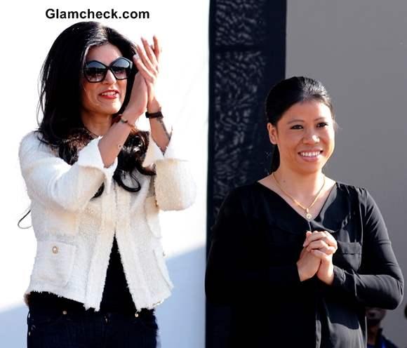 Sushmita Sen with Mary Kom