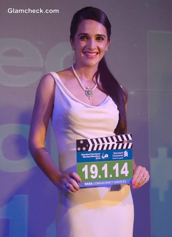 Tara Sharma for 11th Standard Chartered Mumbai Marathon 2014