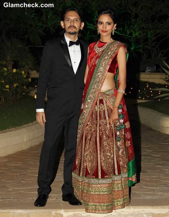 Vishesh Bhatt with his wife Kanika Parab