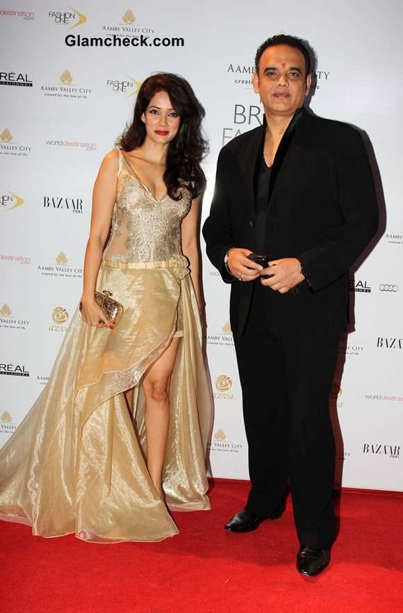 Vivek Kumar and Vidya Malvade at Aamby Valley India Bridal Fashion Week 2013 Mumbai