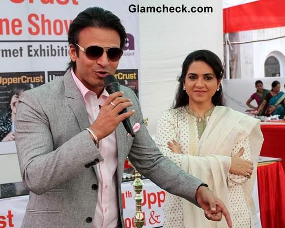 Vivek Oberoi and Shaina NC 2013 UpperCrust Food and Wine Show